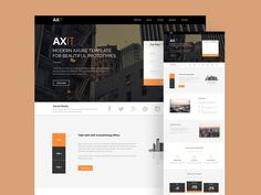 Axis is a beautiful landing page #template with a clean & modern design.