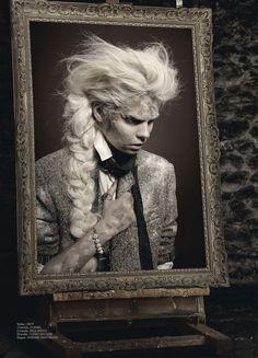 Anna Gushina in gothic art fashion