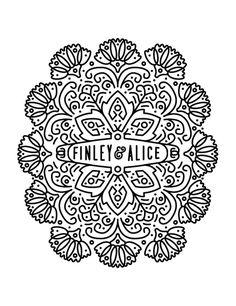 #logo #floral #line