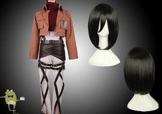 Survey Corps Jacket Mikasa Ackerman Cosplay Costume + Wig #cosplay #costume #mikasa #ackerman
