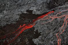 lava at hawaii #red #monotone #lava #photograph #texture