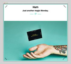 Hum, design, website, layout
