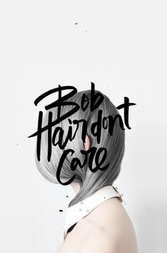 LET'S TALK HAIR. AGAIN. #calligraphy #lettering #typography