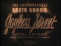 Joyless Street (1925) Title Card #movie #lettering #title #card #vintage #type