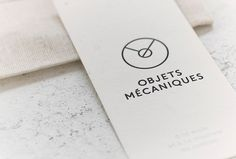 Objets Mécaniques by Nouvelle Administration #stationary #graphic design #branding