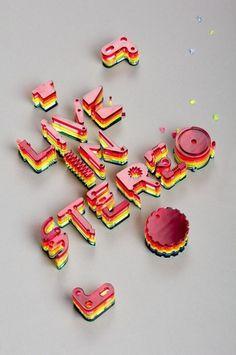 The Pinker Tones cd cover design by Lo Siento Studio, Barcelona #artwork #type #album #3d