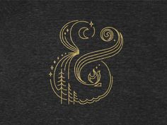 Campersand by Beth Sicheneder #ampersand #illustration #gold #monoweight #delicate