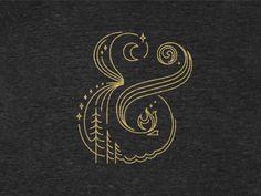 Campersand by Beth Sicheneder #ampersand #illustration #gold #monoweight #delicate