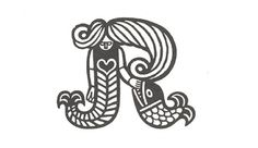 Scandinavian Trademarks - The Black Harbor #branding #retro #mermaid #identity #vintage #scandinavian #logo #animal
