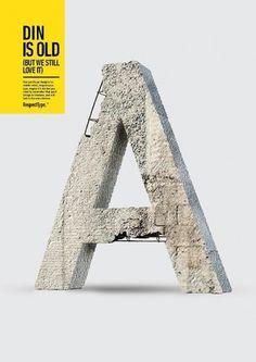 RespectType. - Miguel de la Garza #concrete #g #de #miguel #respectype #la #poster #type #din #typography