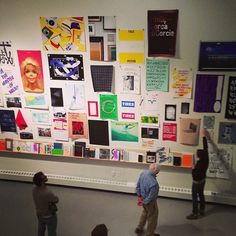 drawdownbooks:Massive wall of posters (at Yale School of Art) #yale #design #graphic