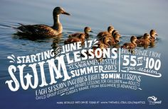 Swim Lessons #lettering #water #swimming #ducks