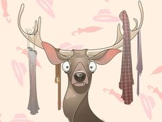 """Happy new wardrobe"" card #illustration #deer"