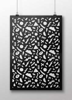 Pattern by Andy Gellenberg #abstract #vector #pattern #white #design #shapes #graphic #black #illustration #poster #and