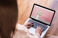 Woman typing on laptop Free Psd. See more inspiration related to Mockup, Technology, Computer, Woman, Girl, Home, Laptop, Notebook, Mock up, Modern, Lady, Working, Wooden, Keyboard, Display, Screen, Female, Up, Surfing, Computer screen, Typing, Mock, Browsing and Femininity on Freepik.