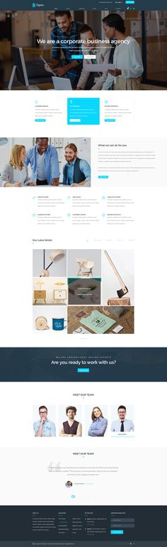 Opton – Multi-Purpose template offers more than 100 different pages and shortcodes to build a creative website for any purpose. Check htt