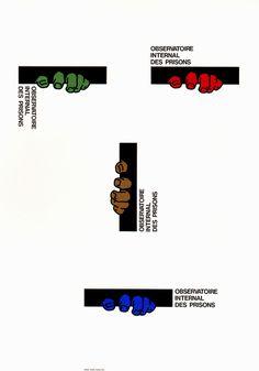 Japanese Poster: International Observation of Prisons. Shigeo Fukuda. 1993 #illustration #japanese #graphic #poster