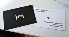 New Business card #vector #white #business #branding #freelance #card #black #identity #and #paper