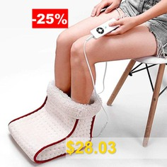 Electric #Heating #Foot #Warmer #with #Detachable #Plush #Lining #- #MILK #WHITE