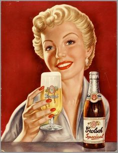 klappersacks - grolsch #beer #woman #girl #alcohol #design #graphic #relax #advertising #glass #illustration #vintage #lager #consumption