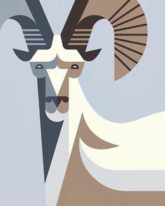 Goat by Josh Brill #icon #iconic #picto #illustration #animal #bird #goat