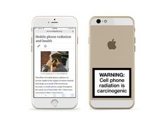 Cell Phone Warning Label #labels #phone #cigarettes #cell #kill #cancer #warning