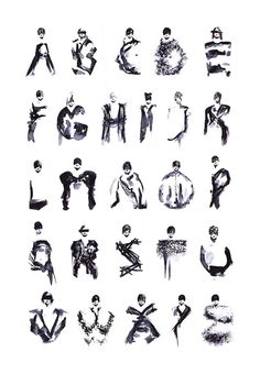 FASHION TYPE / MaisonMartinMargiela #white #stroke #black #people #brush #and #typography
