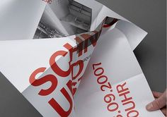 Graphic-ExchanGE - a selection of graphic projects #red #print #folded #poster #type #folding #typography