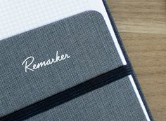 mkn design Michael Nÿkamp #remarker #index #slip #thoughts #texture #notes #collect #your #logo #cards