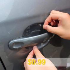 4pcs/pack #Car #Door #Handle #Film #Protective #Film #Rhino #Skin #Protective #Film #Car #Door #Handle #Protection #Film #- #WHITE