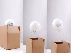 Direct mailing for an event. #balloon