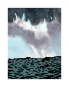 Ken Price, Contemporary Art Studio and Gallery #ocean #print #watercolour #illustration #sea #waters #troubled