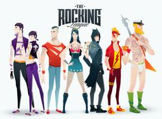 Super Rockers by Andrés Moncayo #inspiration #super #heroes #illustration #marvel