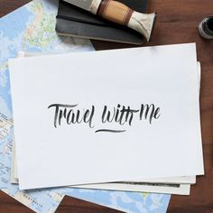 Travel with me - Hand lettering by Laura Dillema
