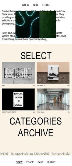 number04.com website webdesign hipster modern art cool best beautiful mindsparkle mag number 04 award
