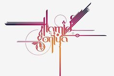 Hamid & Soniya (Final) | Flickr - Photo Sharing! #calligraphy #design #digital #type #oriental #typography