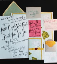 Unique and Custom Wedding Invitation Ideas and Modern Stationery - Part 6 #wedding #print #cards #invites