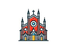 Tumblr #church #illustration #colorful