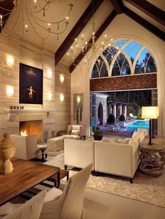 Pool House and Wine Cellar artistic decor in luxury living room