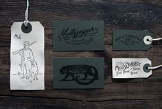 """Mollyjogger"" business cards #labels #script #business #hand #tags #cards"