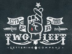 Two_left_lettering_co3 #txture #type #illustration #lettering
