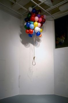 Untitled 70 X 70 X 100 (inch) Balloon, Rope. | Flickr - Photo Sharing! #installation #photo #balloon #photography #colors #art