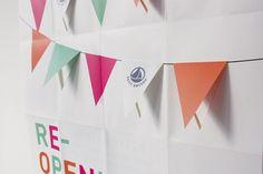 Bruxelles | Pierre-Alexis Delaplace #invitation #affiche #boutique #petit bateau #fanions #ouverture