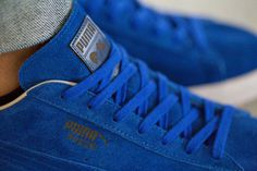 Image of A Closer Look at the PUMA Suede Sapphire #shoes #leather #blue #puma #awesome