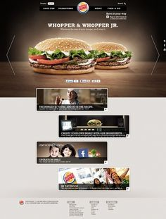 Burger King . Concorrência on the Behance Network #ingredients #burger #site #chef #html5 #king