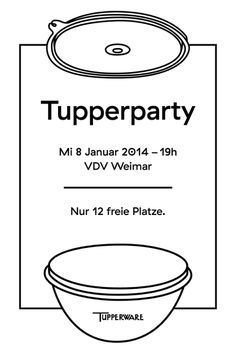 #Tupperware #Tupperparty #Party #Plastic #Invitation