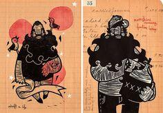 Nixon Art Mosh - Denver on the Behance Network #linocut