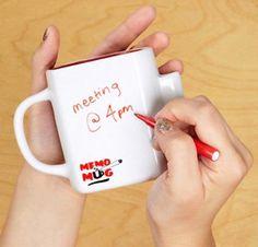 Dry Wipe Memo Mug From Luckies of London #memo #memory #mug