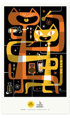 Zeus Jones - Purina ONE beyOnd - Pitchfork - Lab Partners #illustration #poster