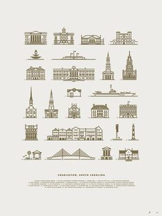 Charleston #illustration #city #lines #buildings #jay fletcher #charleston